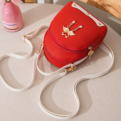Women's Personalized Design Mini Backpack Swan Pendant Crossbody Messenger Bags for Women Fashion Female Shoulder Bag