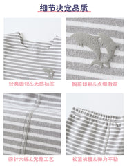 Teenager Pajamas Set 2-16 Y Children Home Clothes Thin Warm Kids Fall Winter Sleepwear Striped Casual Boys Girls Clothing Set