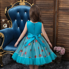 Girls Dress 3 4 5 6 7 8 9 10 11 12 Year Children Princess Dresses Strawberry Sequined Sweet Kids Party Wedding Costume