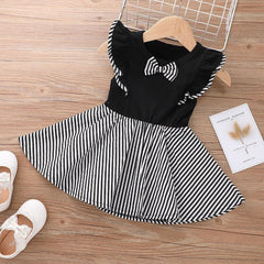 Girls Dress 1 2 3 4 5 6 Year Baby Toddler Children's Summer Dresses 2021 New Summer Striped Bow A-line Kids Clothes