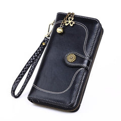 Long Wallet PU Men Women Bag National Style Purse Zipper Credit Card Money Holder Bags Portfel Affordable Luxury Fashion