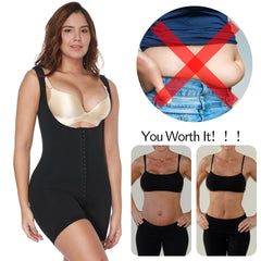Women Shapewear Tummy Control Bodysuit Fajas Colombianas Full Body Shaper Slimming Underwear Mid Thigh Slimmer Waist Cincher