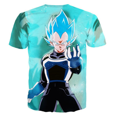 Dragon Ball Super Vegeta Saiya 3D T Shirt-Vimost Sports