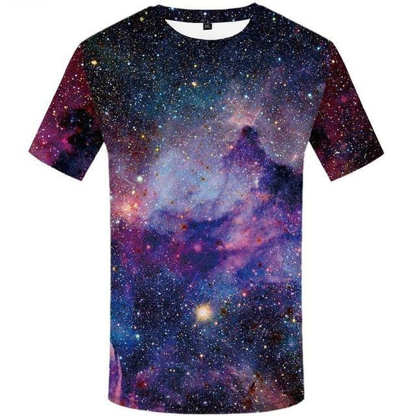 Mens Space funny hip hop  printed  3D T-Shirt-Vimost Sports