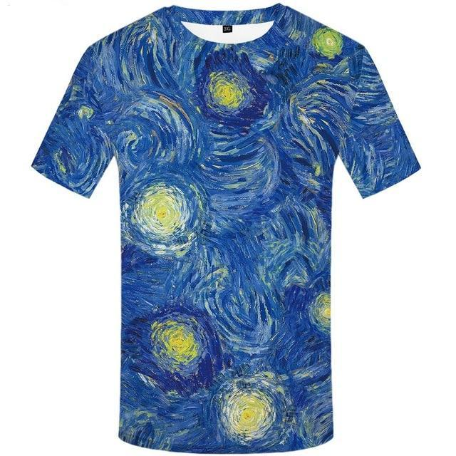 Mens Space funny hip hop  printed  3D T-Shirt