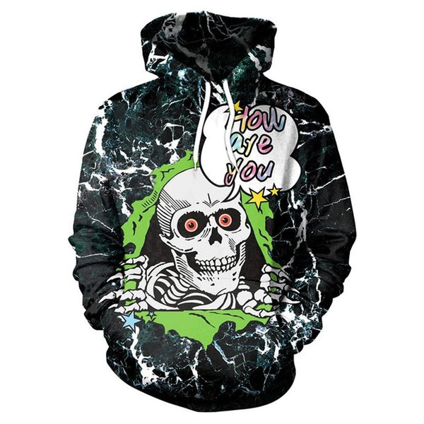 New Green Skull  Men Women Printed 3D  Funny  Hoodies-Vimost Sports
