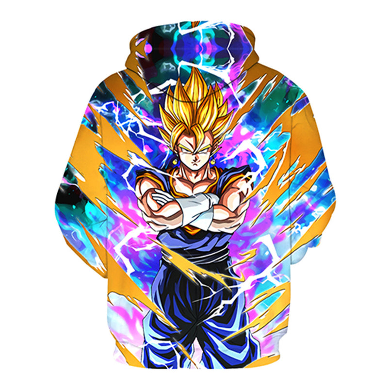 Men Women 3D Fashion Dragon Ball Goku Hooded Sweatshirts-Vimost Sports