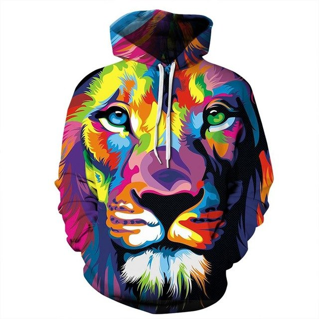 New Fashion Women Men Colorful 3D Hoodies