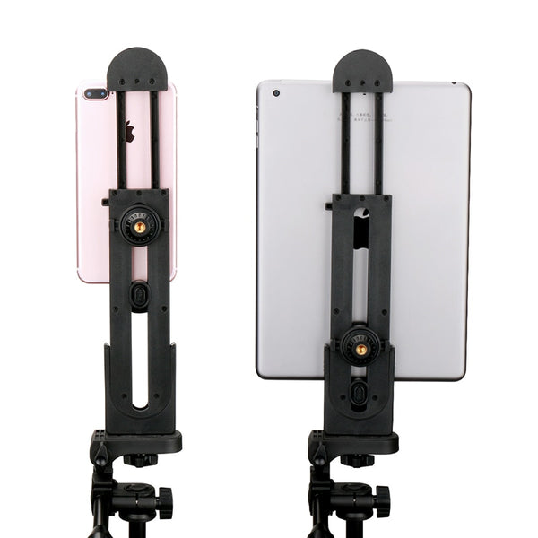 IPad Professional Tablet Tripod Mount 5-12'' Universal Stand Clamp Adjustable Vertical Bracket Holder Adapter 1/4""