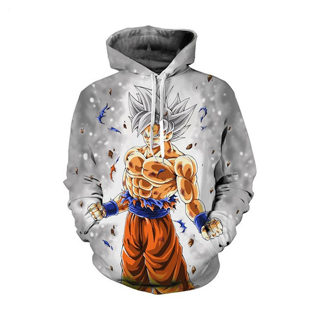 3D Dragon Ball  Super Saiyan Goku Printed Men's  Sweatshirt