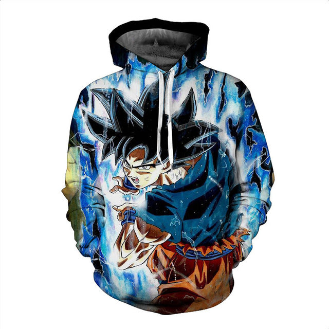 Dragon Ball  Men Women Super Saiya  Goku 3D Hoodies Sweatshirts-Vimost Sports