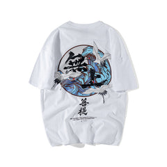 Streetwear Printed T Shirts Japanese Style Men Women Top Tees