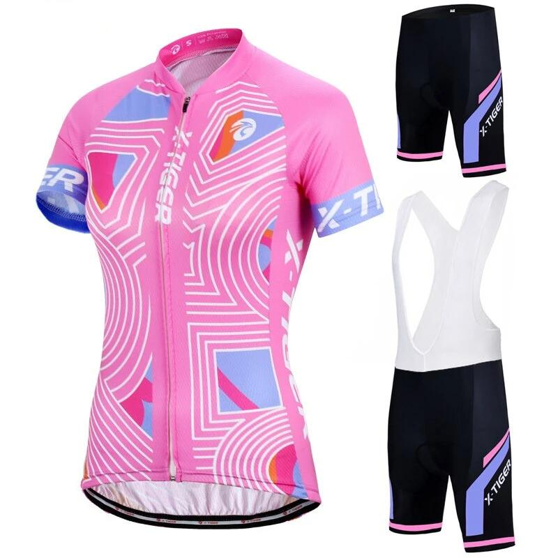 Summer Women MTB Bike Cycling Clothing Set