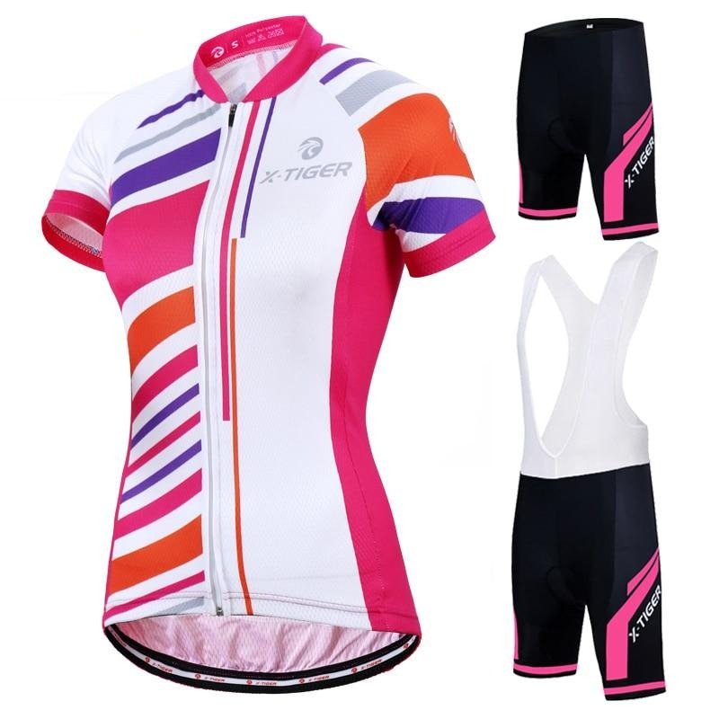 Women Summer UV Cycling Jerseys Set 100% Polyester