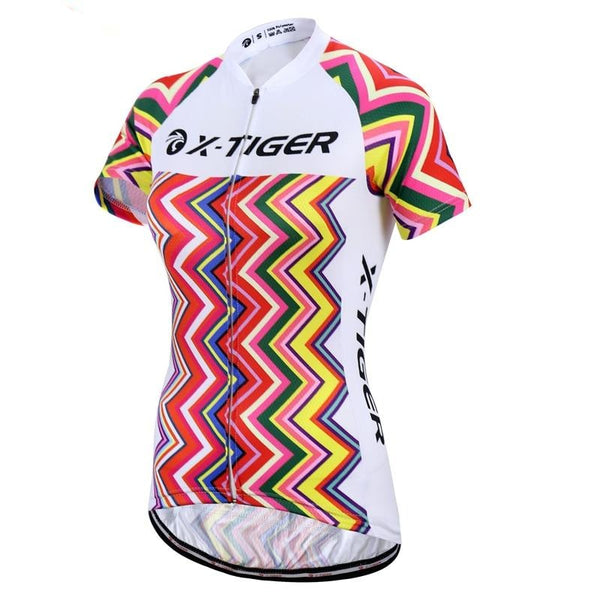 Women Summer 100% Polyester Mountain Bike Clothing