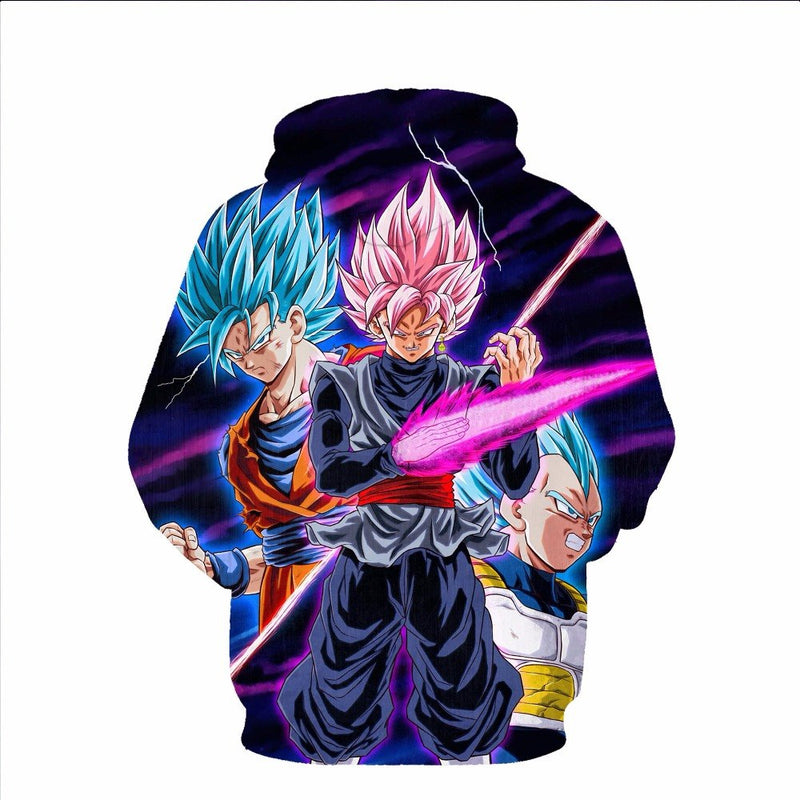 Thin section Dragon Ball men's fashion long sleeve hooded sweatshirt-Vimost Sports