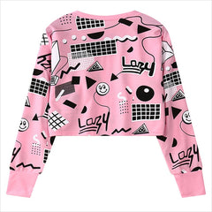 Women Harajuku Geometry Printed Sweatshirts