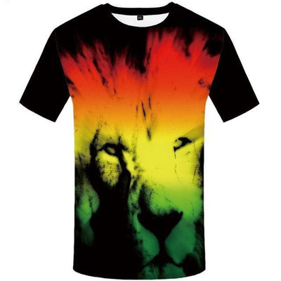 Lion Brazil  Hip Hop Funny Streetwear T Shirts Short Sleeve-Vimost Sports
