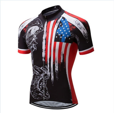 USA jersey style Summer Breathable Cycling Jersey Clothing