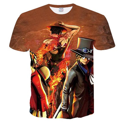 Men Women Anime  One Piece 3d   The king of the pirates T-shirts-Vimost Sports