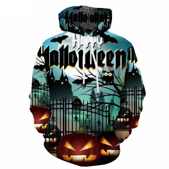 Halloween Pumpkin 3d Print Party Moon Sweatshirt