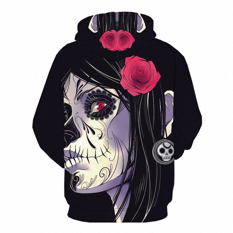 Men Anime Horror Flower  3d Print Hoodie-Vimost Sports