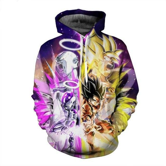 New men's  long-sleeved Dragon Ball  3d hooded sweatshirt-Vimost Sports
