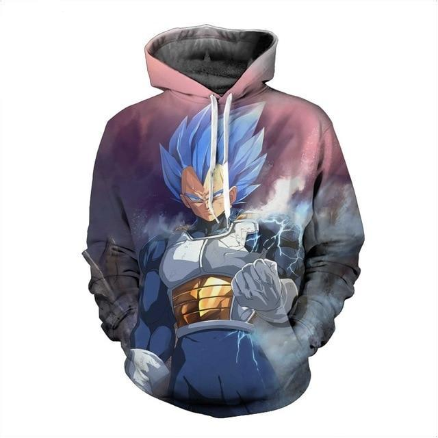 Starry Vegeta Super Saiyan Dragon Ball 3d hooded sweatshirt-Vimost Sports