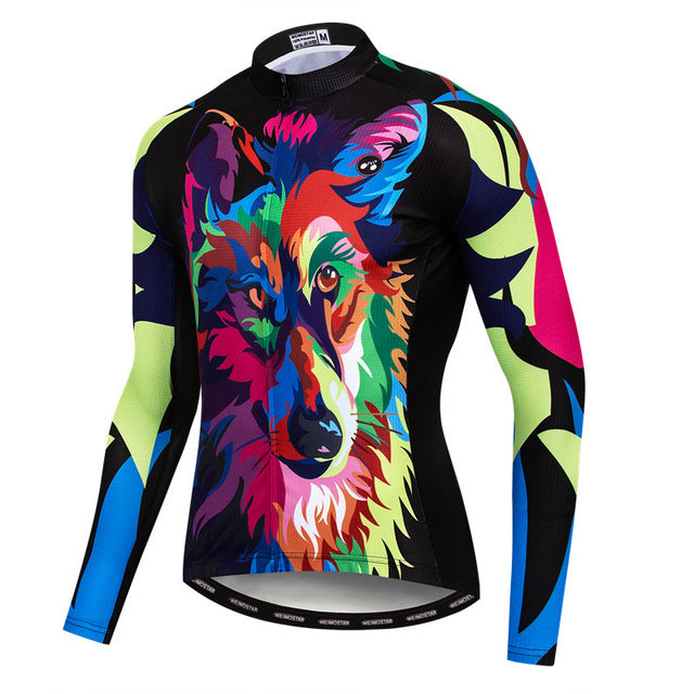 Printing Wolf Cycling Wear Breathable Mountain  Jersey Top
