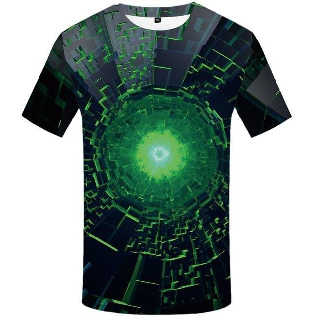 Men Hip Hop Space Black Hole 3D Printed Tshirt