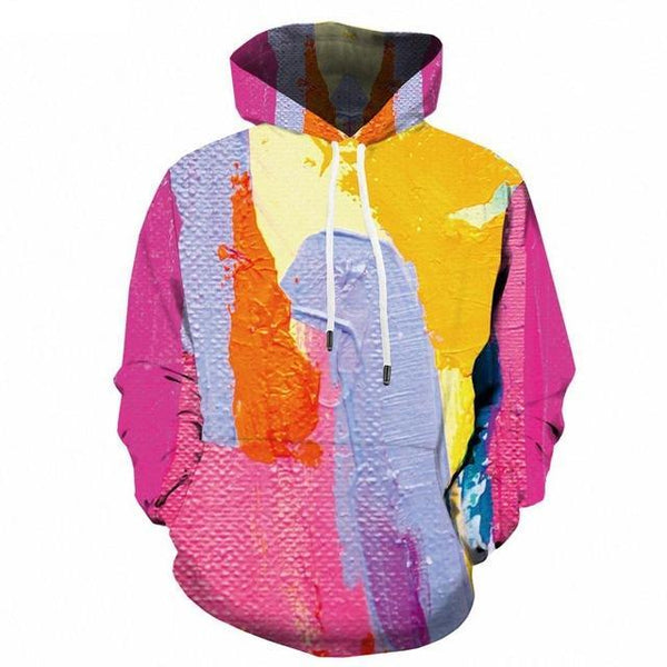Men Winter Vortex Hypnosis Colorful Style 3D Printed Hoodie-Vimost Sports