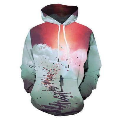 Men Abstract Graffiti  3D Print  Colorful  Hoodies-Vimost Sports