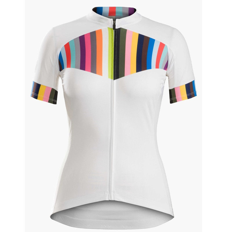 New style Women MTB short sleeve White Cycling wear