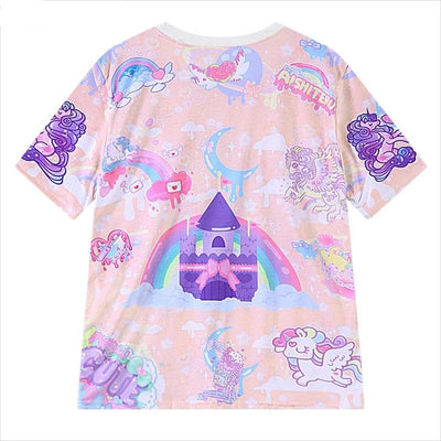 New Harajuku Style Women Cartoon Printed T-Shirts