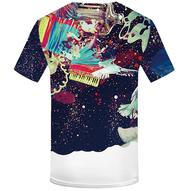 Mens Funny  Art Graffiti  Printed Colorful  3d  Tshirt
