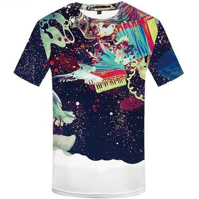 Mens Funny  Art Graffiti  Printed Colorful  3d  Tshirt-Vimost Sports