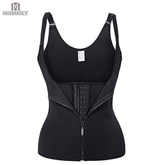 Women Body Shapes Neoprene Sauna Sweat Vest Waist Trainer Slimming Tummy Control Trimmer Corset Workout Thermo Shapewear Black