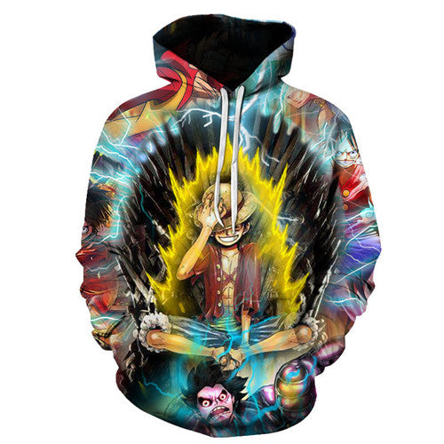 One Piece Luffy 3d Prin3D  Anime Hoodies Sweatshirt