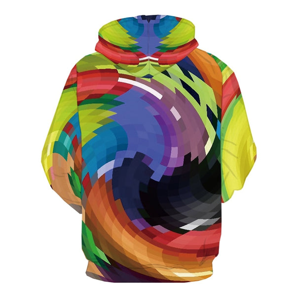 Men Cube  3d Colorful 3D Print Geometric Hoodie-Vimost Sports