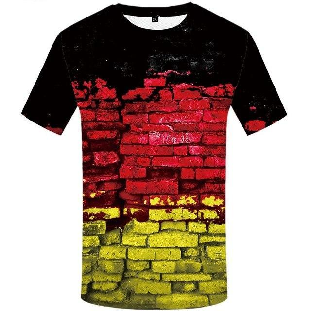Men  Wall Anime  German Flag 3d Printed Tshirt