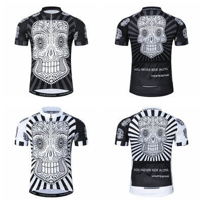 Men's Skull Summer Breathable Bicycle Cycling Clothing-Vimost Sports