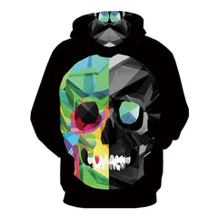 Skull Men Geometry Graffiti  Hoodie 3d Long Sleeve-Vimost Sports