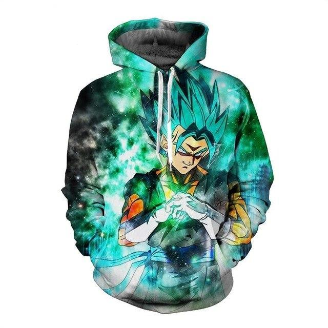 hot brand  pocket hoodie  Vegeta Dragon Ball 3D sweatshirt