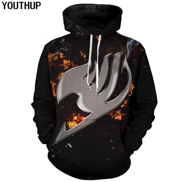 3d Hoodies Symbol Print Anime Hooded Sweatshirts Men Cool Cartoon Hoodies 3d Pullovers Cosplay Tops Men
