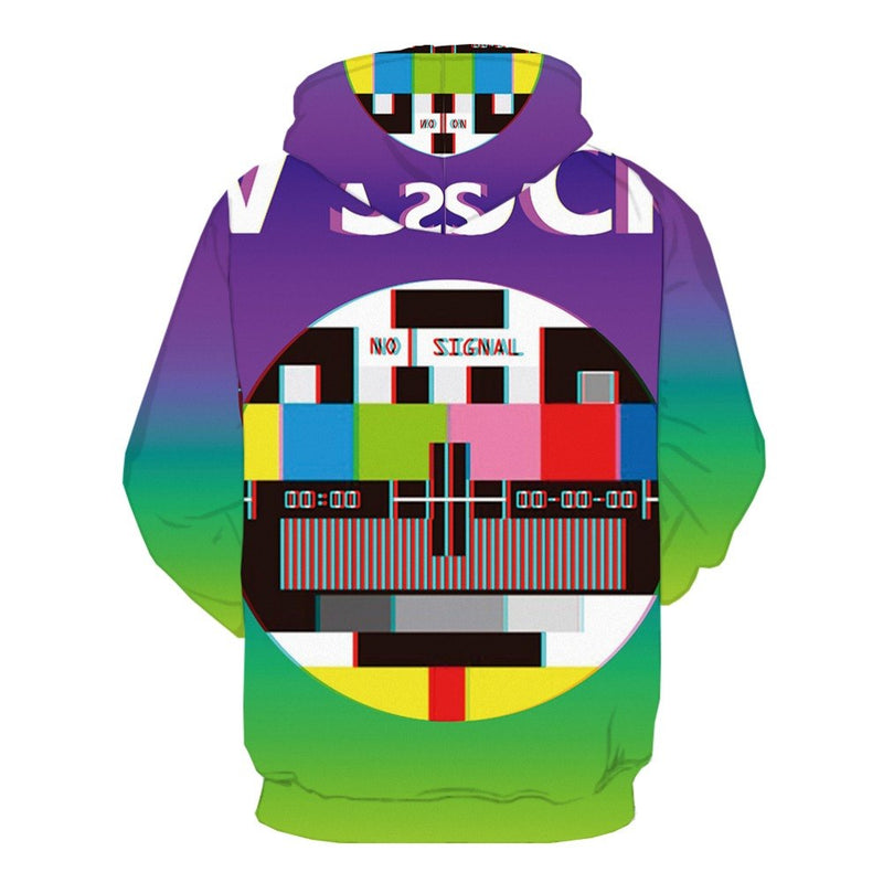 Men Women 3d Colorful 3D Print Geometric Hoodie
