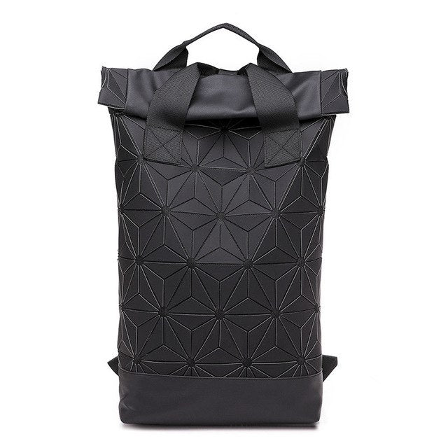 Men Women Luminous Geometric Fashion Large Capacity Backpack