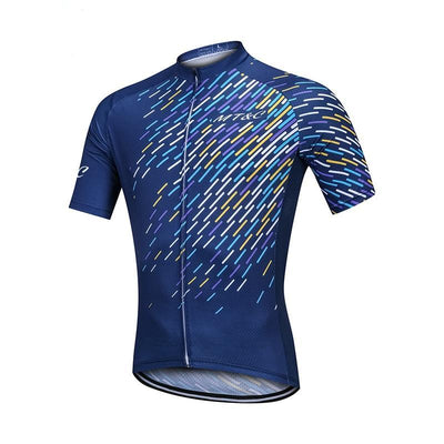 Men Abstract Data Breathable Quick Dry  Bike Clothes-Vimost Sports