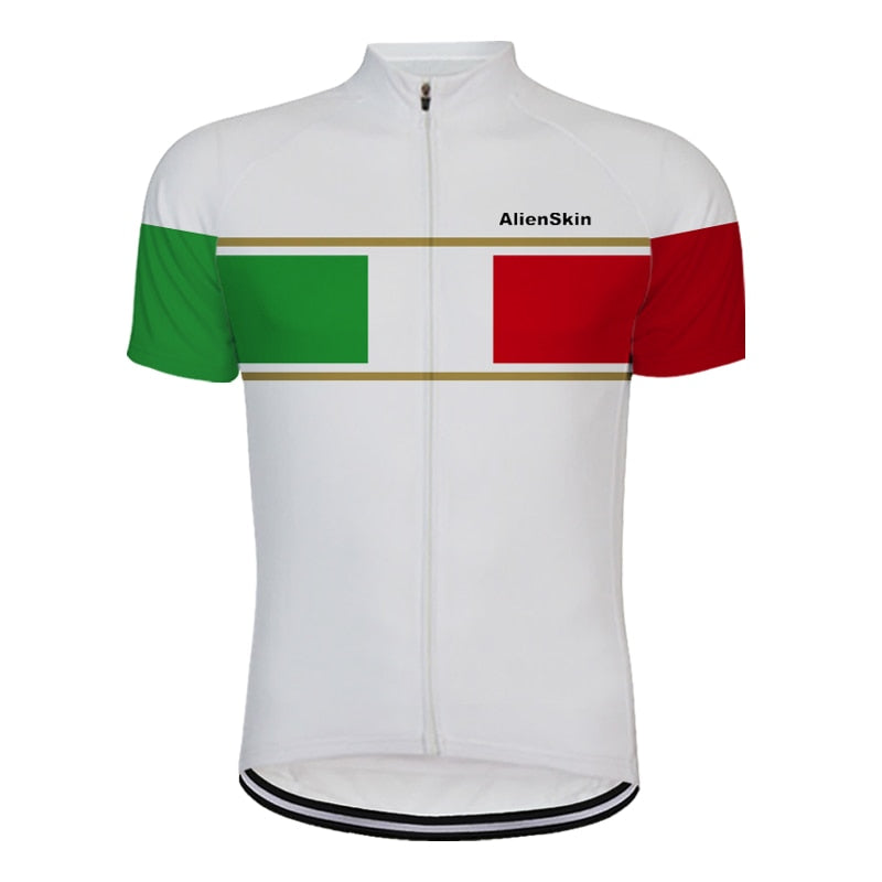 White italy pro team white bike clothing
