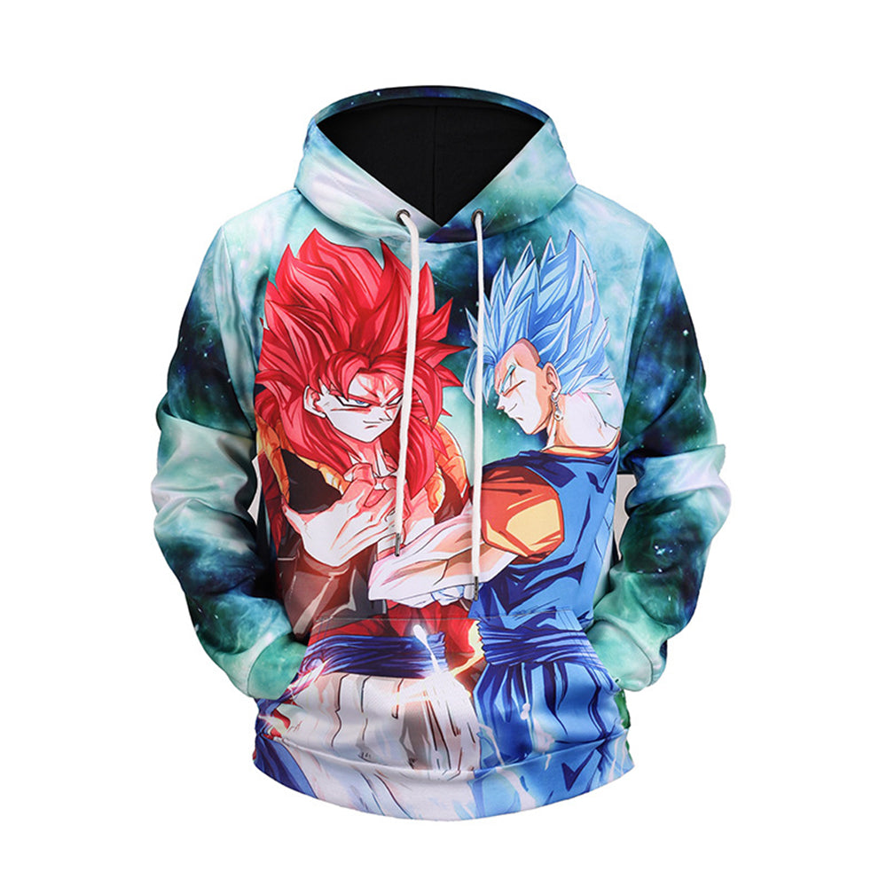 New men's hoodie Dragon Ball Goku 3D print hooded  sweater