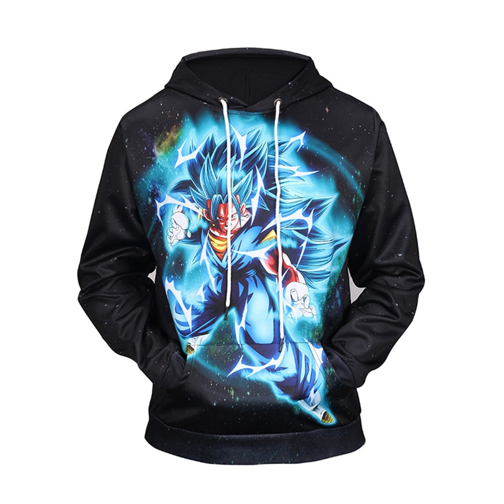 New hoodie cartoon Dragon Ball  print hooded sweater